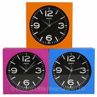 New MODERN ALARM CLOCK in 3 BRIGHT Colours Funky Square Retro Quartz Gift