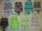 NEW JUSTICE TWO PIECE/TANKINI SWIMSUIT SIZE 6 7 8 10 12 14 16 CHOICE 17 DESIGN
