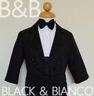 Внешний вид - Boys Tuxedo with Tail Toddler Infants Ring Bearer Size (0-24 Months) 2T 3T 4T