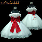UKMD70 RED Two Way Wear Christmas Baby Party Gift Flower Girls Dress 1 to 14 Yrs