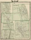 Historic City - WAUKEGAN - ELGIN-LAKE FOREST GENEVA ILLIONOIS MAP 1876
