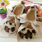 3-12 Months Leopard Soft Soled Girl Baby Toddler Infant Ribbon Anti-slip Shoes