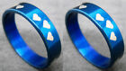 R065S fashion a holy love blue stainless steel ring you pick size Hot New