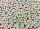 100% Cotton Fabric - Beige/Rust Floral