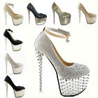 Glitter Super Studded Gorgeous Spike Epulary Evening Party Queen High Heels