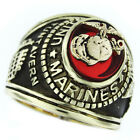 Mens Marines Seal US Military Gold Plated Ring