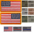 "USA Flag Patch Military American US Velcro Flag Patch 1-7/8"" x 3-1/4"""