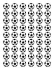 54 FOOTBALLS EDIBLE WAFER/RICE PAPER CUP CAKE TOPPERS ANY FOOTBALL