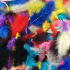 10 GRAMS ( 100 )  MARABOU TURKEY FLUFFY FEATHERS -------CHOOSE YOUR OWN COLOUR