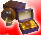BEAUTIFUL CLEAR CRYSTAL BALL + STAND, TOP QUALITY, BEST VALUE, SHIPPED FROM UK