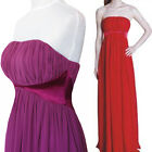 New Chiffon Satin Formal Bridesmaid Prom Cocktail Party Dress Evening Gown