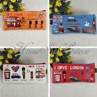London Canvas England Pencil Pen Stationery Case Makeup Cosmetic Bag Coin Pouch