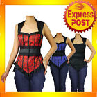RK61 Rockabilly Lace Bustier Sleeveless Brocade Top Work 50s Retro Pin Up Plus