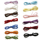 3mm x 1.5mm Faux Suede Cord 1 Meter Leather Lace Jewelry Making Beading Thread