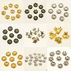 500 Plated flower Metal Filigree beads Caps Jewellery, Silver, Gold, Bronze etc