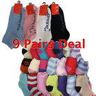 9Pair Non Slippery Men Women Bulk Sock Mix Color Wholesale Winter Fuzzy Size 2-8