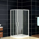 Offset Quadrant Shower Enclosure Easyclean 8mm Glass Bathroom Cubicle+Stone Tray