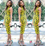 Womens Celeb Bodycon Fitted Midi Length Summer Party UK Asos Pencil Ladies Dress