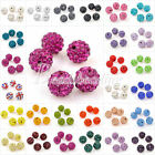 5x Shamballa Clay Crystal Rhinestone Pave Round Disco 10mm Ball Beads 25 Colours
