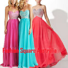 New Beaded Chiffon Formal Evening Ball Prom Cocktail Party Dress Sweetheart Neck