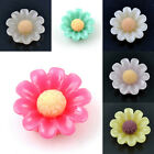 20pcs Multi-Color  Resin Flatback Beads Sun Flowers charms findings 9 mm