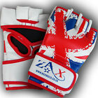 UNION JACK UK FLAG GRAPPLING GLOVES REX LEATHER MMA CAGE FIGHT TRAINING MITTS