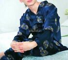 FREE Ship Men Satin Silk Pajama Set Multi-Color Silkpeace Pants M L XL 2XL 3XL