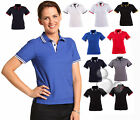 Ladies Polo Size 8 10 12 14 16 18 Contrast Work Golf Shirt Top