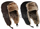 Peaches Pick Faux Fur Lined Unisex Trapper Yooper Hat Bomber Cap Size S/M, L/XL