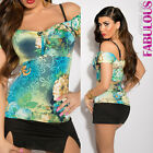 NEW SEXY WOMEN'S TOP PARTY CASUAL HOT CLUBBING WEAR LATINA BLOUSE OFF SHOULDER