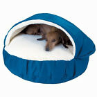Cozy Cave Pet Bed for cat or dog with washable cover and zippered lambskin liner