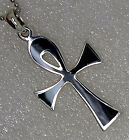 ANKH Egyptian Egypt Cross of life Pagan 925 Sterling Silver pendant Charm Amulet
