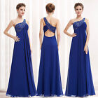 Sexy One Shoulder Blue Winter Maternity Evening Dresses Formal Prom Gowns 09872