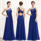 Sexy Women's One Shoulder Blue LongBridesmaid Evening Party Formal Prom 09872