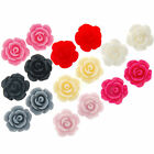 15 x Small Flat Back Rose Cabochon Flowers 10mm Card Making/Scrapbook/Jewellery