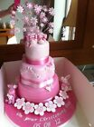 Pink Girl Cupcake Topper Cake Decoration Princess Minnie Peppa Butterfly Glitter