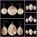 Mother of pearl MOP white shell pink shell pendant earrings beads set