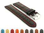 Mens Leather Extra Long Watch Strap Band Croco 18mm 20mm 22mm 24mm 26mm 28mm- MM