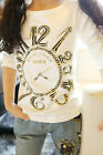 1751 Boutique 3D Gold Watch Strechy Cotton Shirt High Quality Super Fashionable