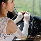 Long lace&cotton UV Protection Sun Block Bridal golf driving gloves Arm Sleeves