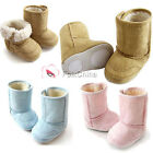 Baby Toddler Boys Girls Soft Sole Fleece Shoe Warm Winter Snow Boots 6-24 Months