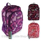 Hi-Tec Ladies Girls Heart BACKPACK RUCKSACK School or College Bag Travel NEW