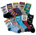 10 Pairs Boys Favorite Working Vehicles Novelty Socks Shoe Size 9-12/13-3 Set A