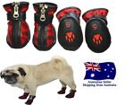 Dog Shoes Sparkling Red Stripe XS S M L XL -Boots Booties Floor Protection Paws