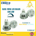 GU10/MR16 GU5.5 6W 9W ENERGY SAVING CREE LED 240V/12V SPOT DOWN LIGHTS Lamps