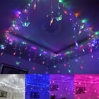 192LED Butterfly Curtain Fairy String Lights Lamp Christmas Xmas Wedding 8x0.75m