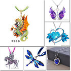 Sale RETRO VINTAGAlloy Pendants Necklace For X'mas Gift Rhinestone New