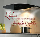 KITCHENS ARE MADE TO BRING FAMILIES TOGETHER wall sticker N100