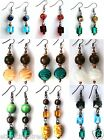ETHNIC INSPIRED: WOMENS GLASS, ACRYLIC, WOOD METAL BEAD 5 - 7.5 CM DROP EARRINGS