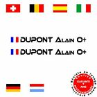 2 sticker pilote copilote ref A moto auto compétition tuning karting harley